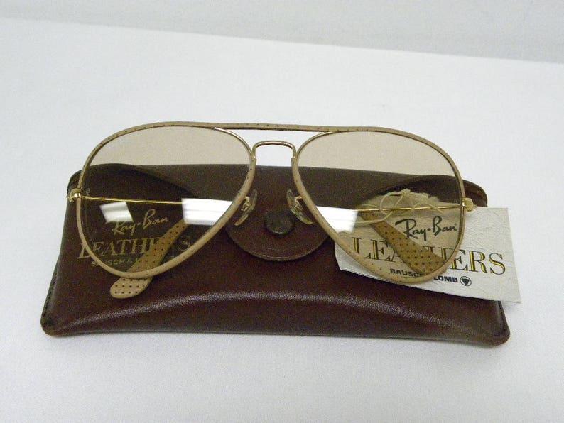 72c7fe9d80 Nuevo Vintage B & L Ray Ban cueros Metal gran avestruz L1513 | Etsy
