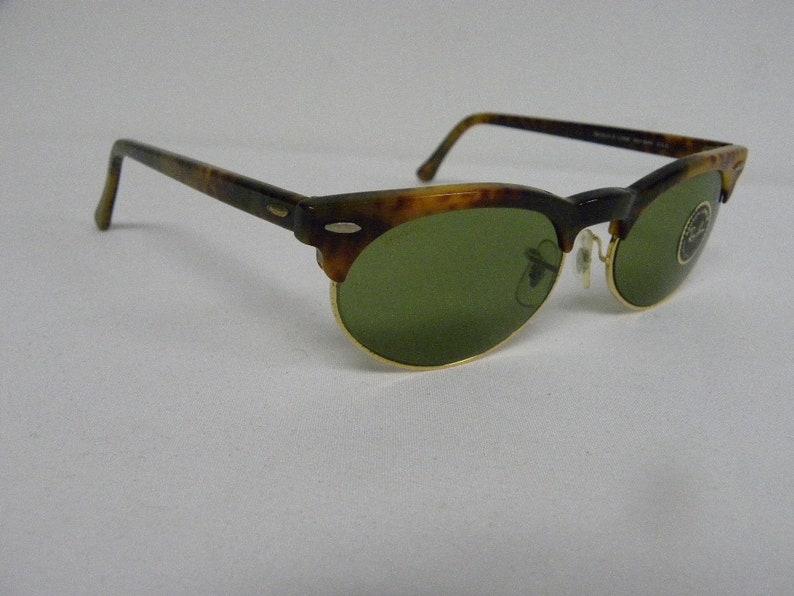 4b8b91aea7 New Vintage B L Ray Ban Oval Max Blonde Tortoise RB-3 Green