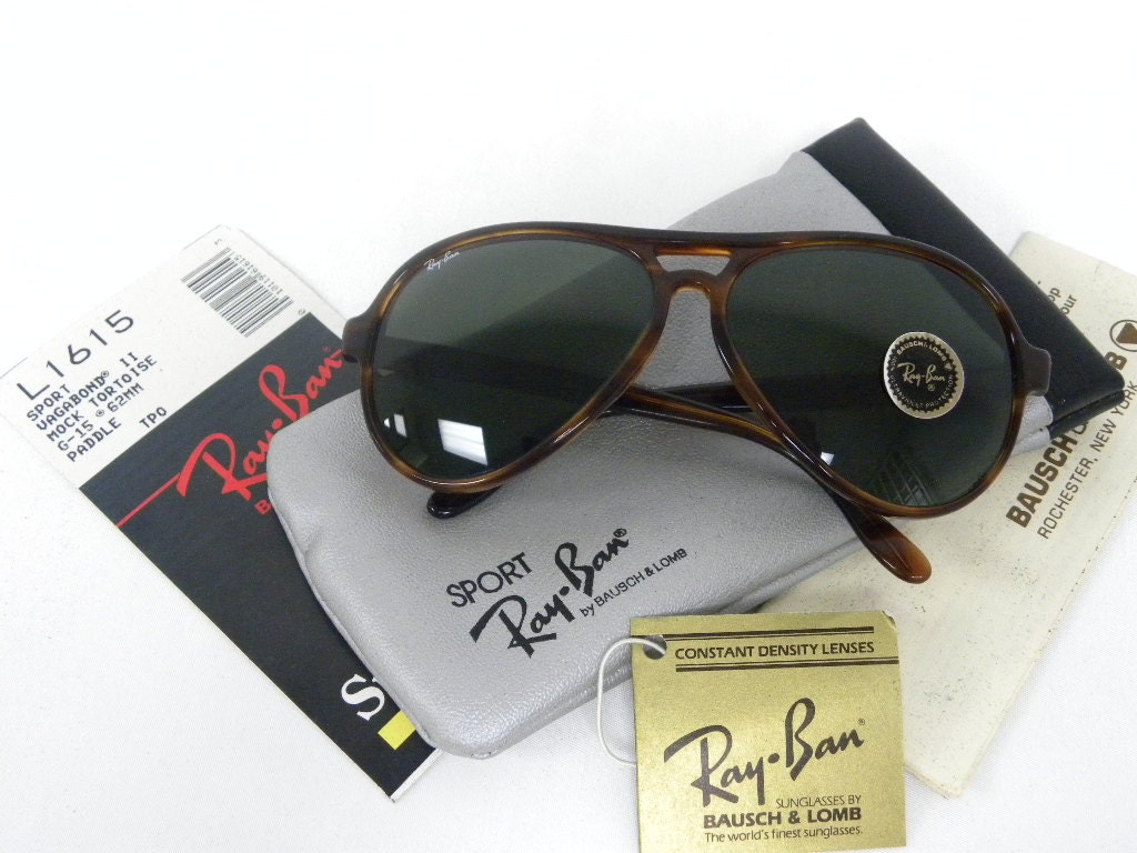 Nuevo Vintage B & L Ray Ban Vagabond II falsa tortuga G-15 62