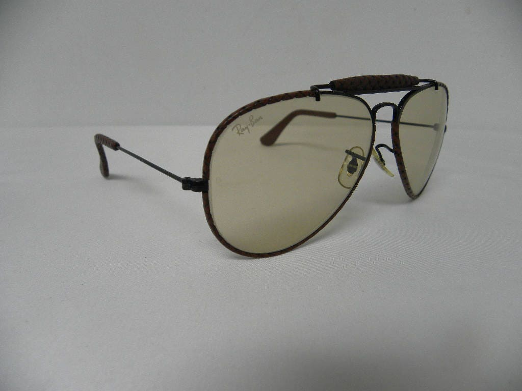 New Vintage B&L Ray Ban Outdoorsman Leathers Woven Ebony Brown