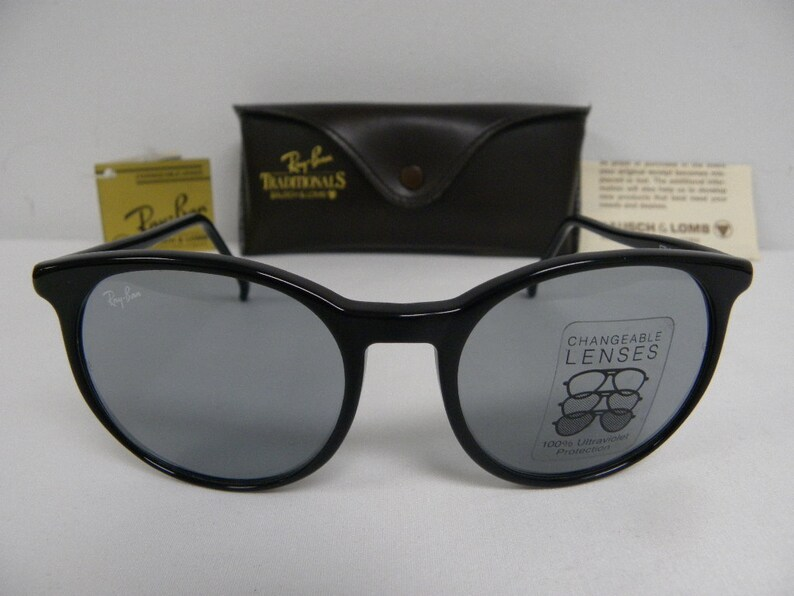 c1e3591d8b5 New Vintage B L Ray Ban Traditionals Style C Black Blue Grey Changeable  Sunglasses USA