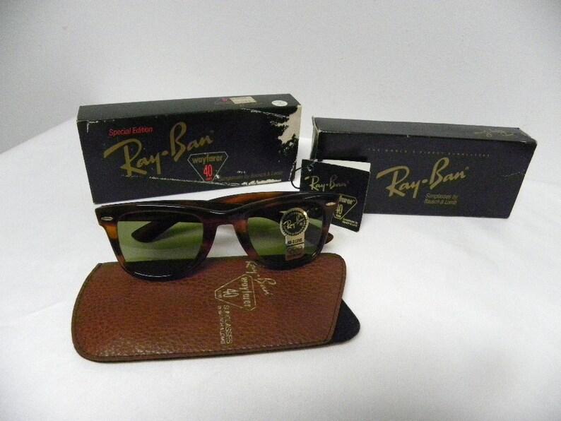 343cb3d126 New Vintage B L Ray Ban Wayfarer 40 Years Limited Edition Mock