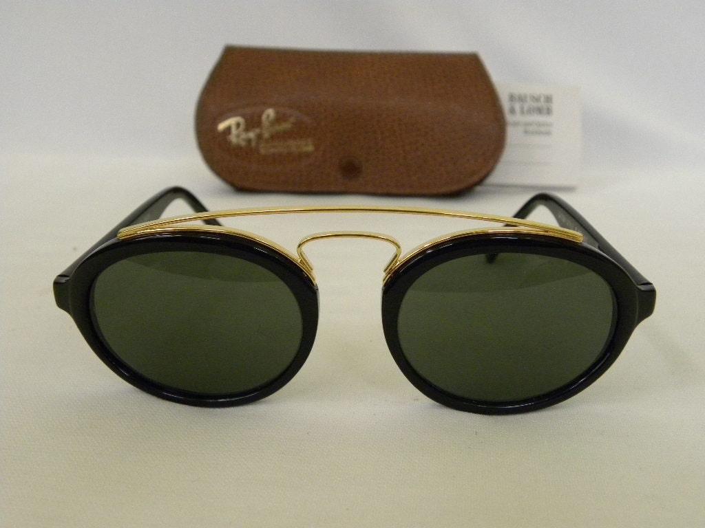 c69dcf979d8 New Vintage B L Ray Ban Gatsby Style 6 Oval Black Ebony G-15