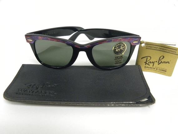 407868e799 New Vintage B L Ray Ban Wayfarer Purple Mosaic Ebony Street