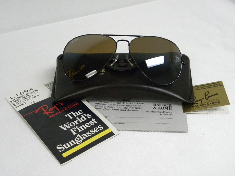 f540e9e045 New Vintage B L Ray Ban Large Metal II Driving Black B15 TGM