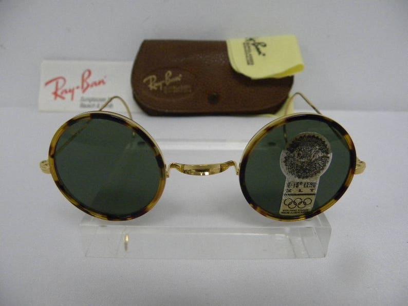 8701094fb0 Vintage B L Ray Ban Cheyenne Style 1 I Spotted Tortoise W1750