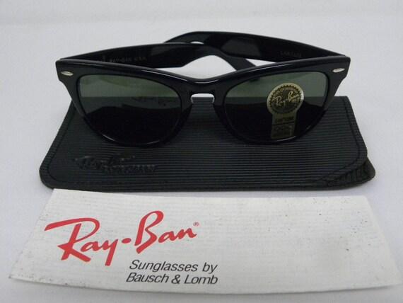 0d1383ea9d9 New Vintage B L Ray Ban Laramie Black G-15 W0904 Square