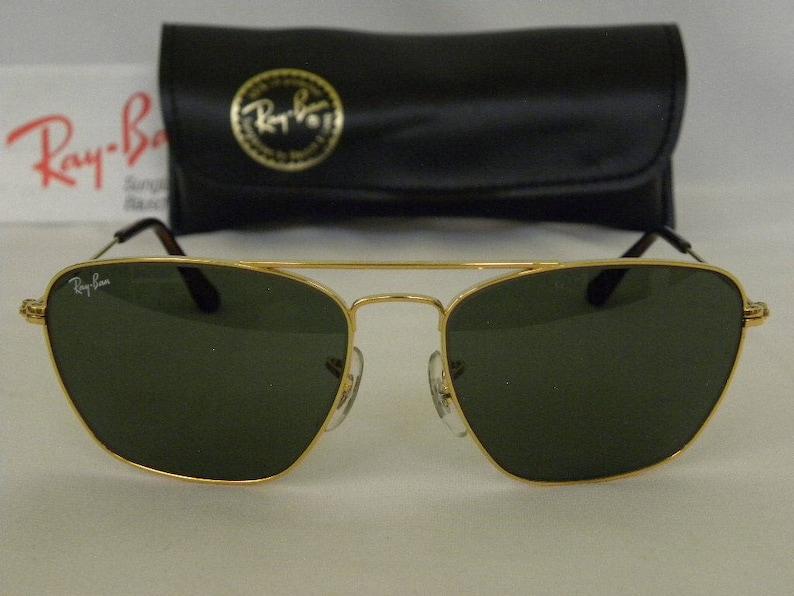 6952f4ba191 New Vintage B L Ray Ban Fashion Metal V Gold G-15 Square