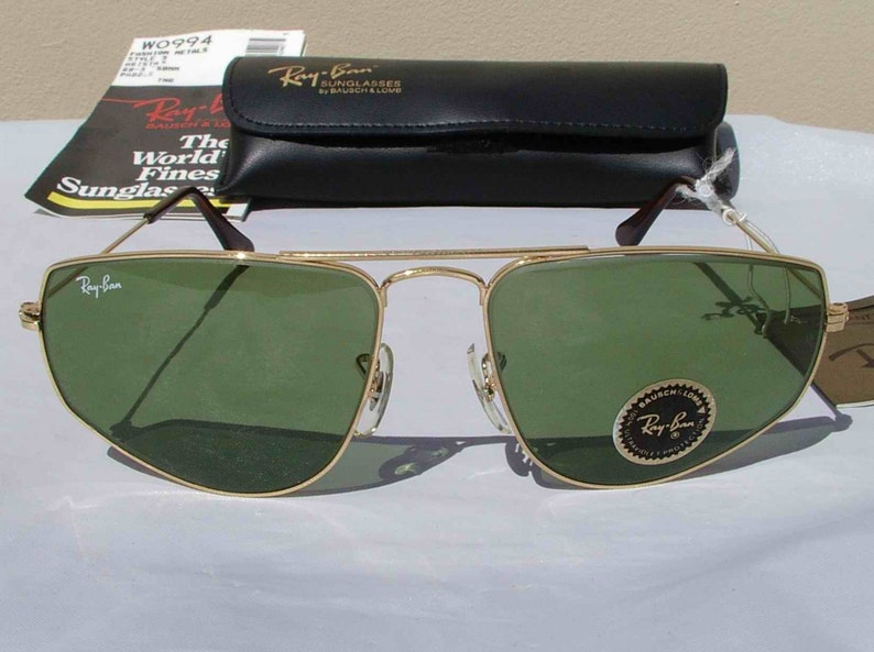 a55ec764da New Vintage B L Ray Ban Fashion Metals Style 3 Gold RB-3 Green