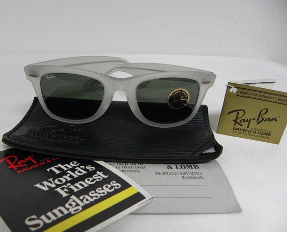 New Matte Frost sunglasses Gray frame with Gray lens Vintage 80/'s Retro