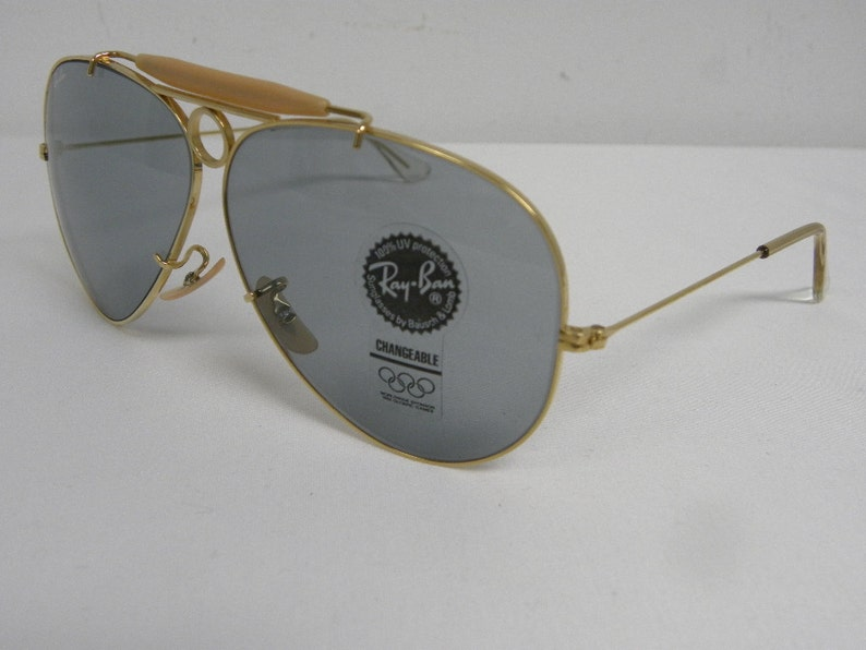 438b7af656b New Vintage B L Ray Ban Shooter Gold Changeable Gray Blue