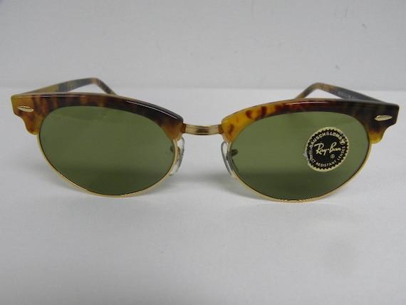 d5f6a99738 ... canada new vintage bl ray ban clubmaster oval blonde tortoise w1265 usa  wayfarer sunglasses usa nos