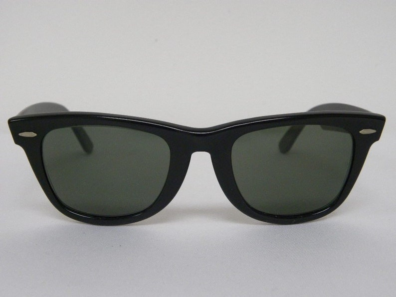 46e7f7c2be New Vintage B L Ray Ban Wayfarer Matte Black G-15 50mm