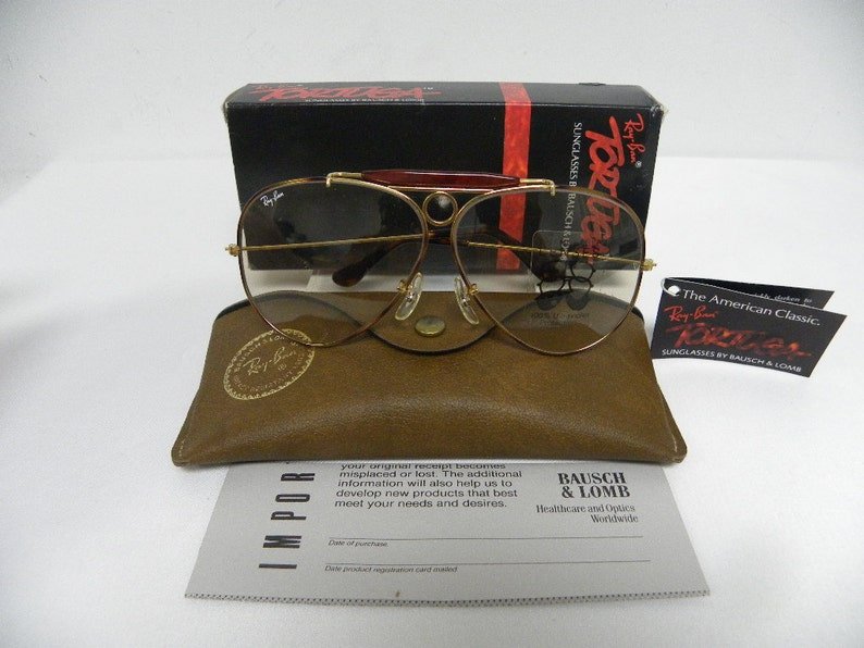 48c8b641eb New Vintage B L Ray Ban Shooter Tortuga L1702 Gold Changeable
