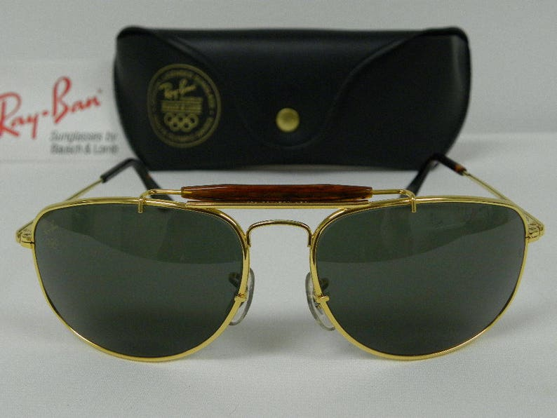5674e5286f New Vintage B L Ray Ban Olympic Sport Metal 1 W1709 Gold Brown
