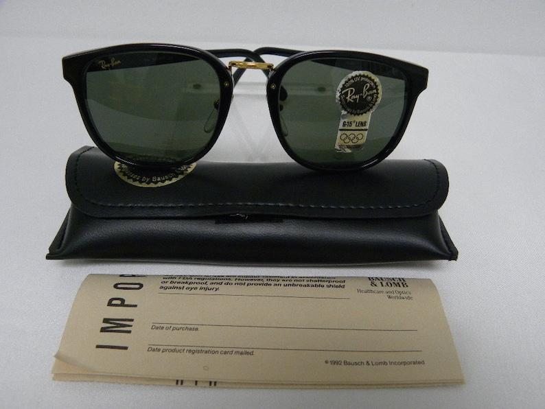 94afd6f2455 New Vintage B L Ray Ban Traditionals Premier II W0926 Ebony