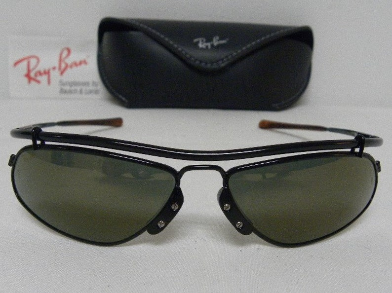 ff2c1590ab New Vintage B L Ray Ban Inertia Black Gold Mirror W2392 Wrap