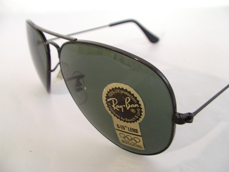 Nuevo Vintage B & L Ray Ban Metal grande II negro G-15 L2821