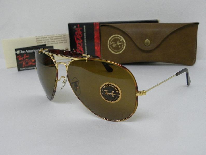 5f280cb9e0 New Vintage B L Ray Ban Outdoorsman II Tortuga Gold Tortoise