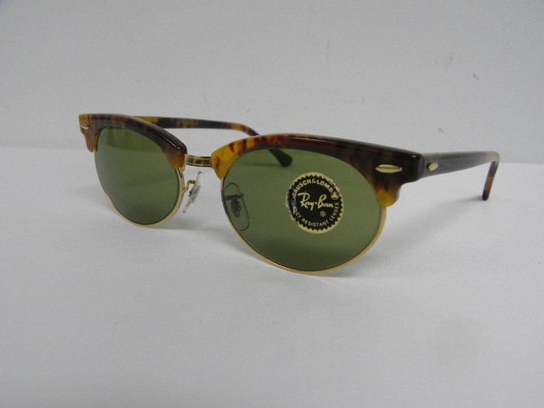 090605924c New Vintage B L Ray Ban Clubmaster Oval Blonde Tortoise W1265