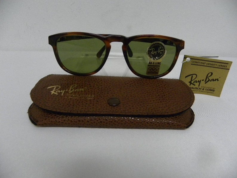 3e34007cc4 New Vintage B L Ray Ban Gatsby Style 2 Square Mock Tortoise