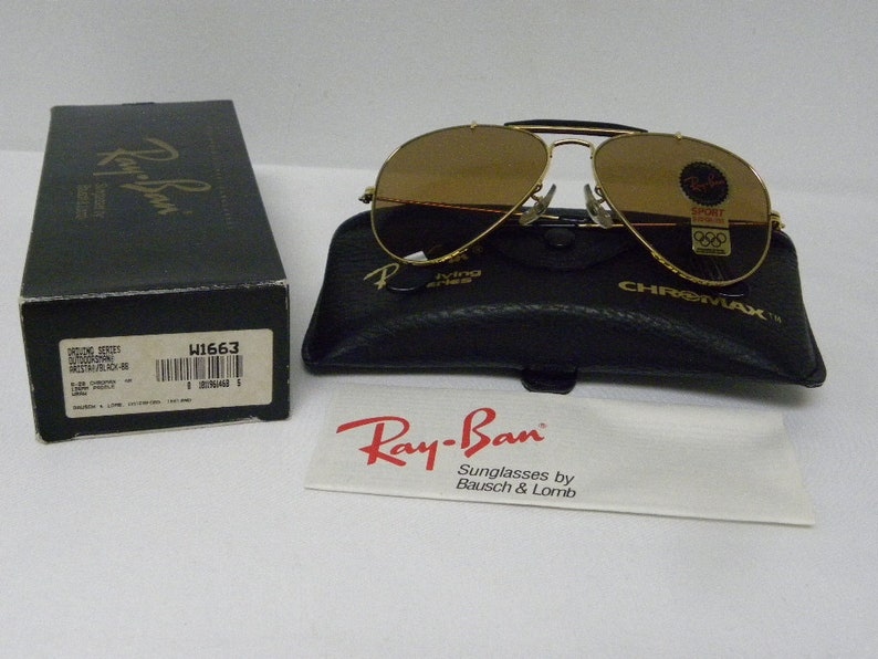 8a6a1c0da3e New Vintage B L Ray Ban Outdoorsman Gold Black Driving Series