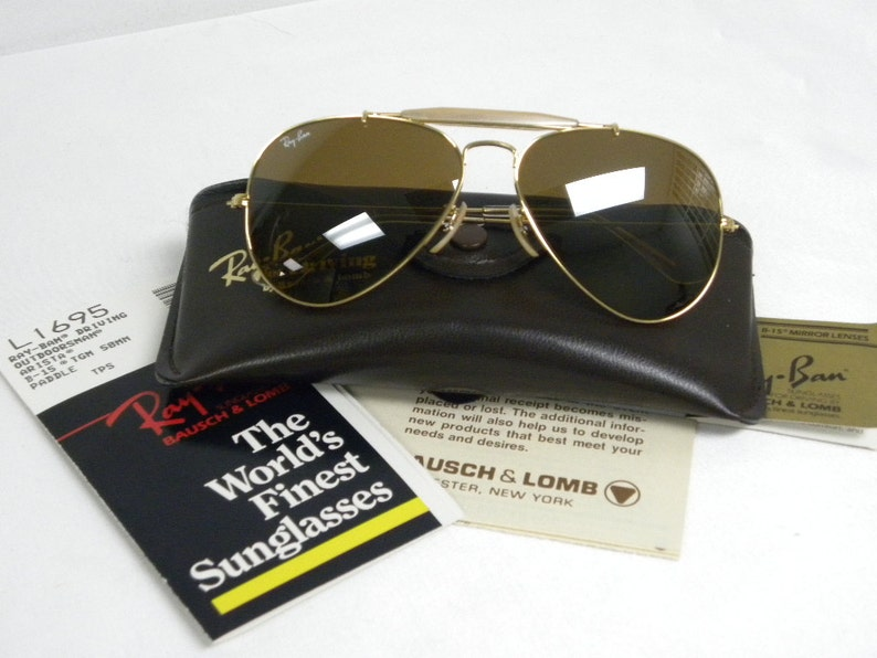 e78e65a36b New Vintage B L Ray Ban Outdoorsman Driving Arista B15 TGM Top
