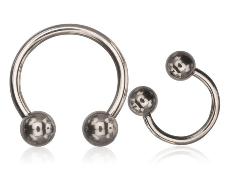 16G G23 Titanium horseshoe circular barbell 8 10 with 4mm balls