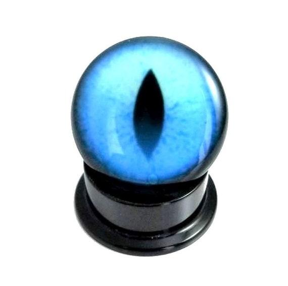 PAIR 2G 0G 00G 1//2 Green Snake Eye Ball Acrylic Ear Plug Screw Gauge Earring