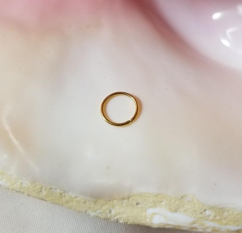 20G Gold Stainless Steel Seamless Ring 516 diameter