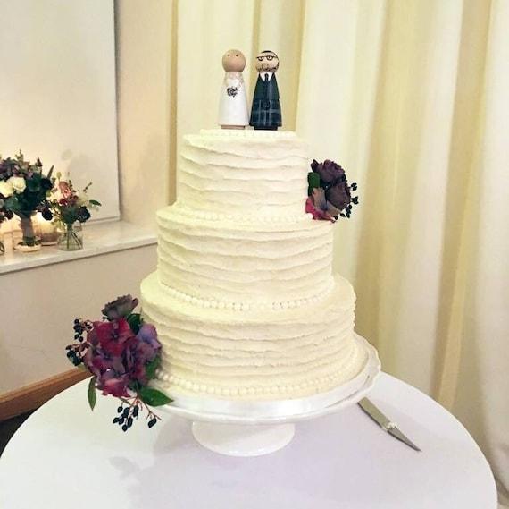 Wedding Cake Topper Family Unique Personalised Peg Dolls | Etsy