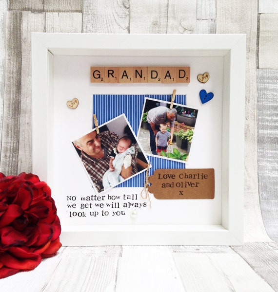 PERSONALISED  DAD FATHER GRANDAD DAUGHTER GIFT FRAMED Vintage  Metal Wall Sign