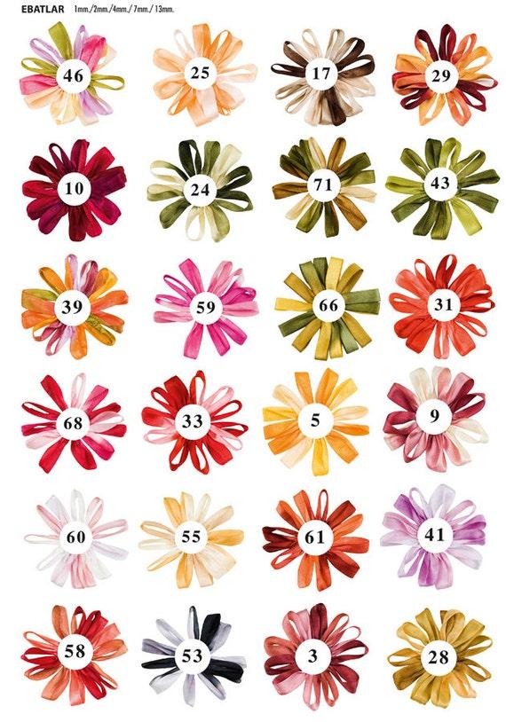 1 Mm Batik Silk Ribbon Embroidery Ornament Supplies Choose Etsy