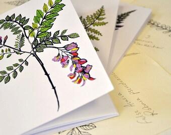 Set of 3 A6 notebooks: Botanics