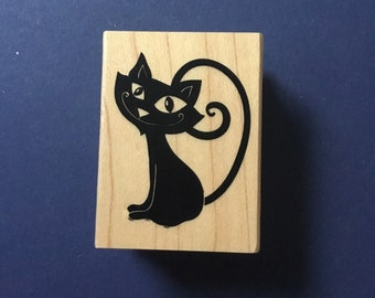 Black Cat stamp, Recollections Stamp, Halloween, card making, scrapbooking