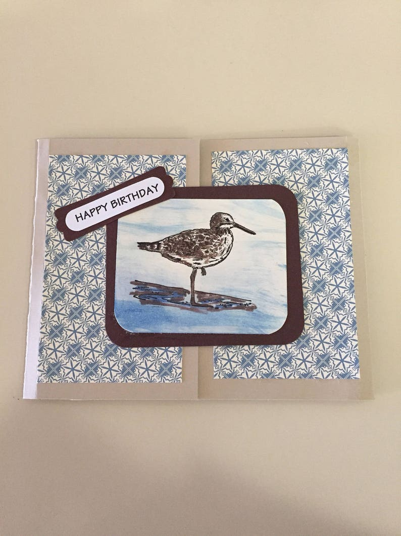 Masculine Birthday Greeting Card Handmade Beach Seaside