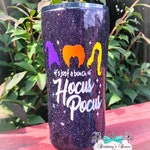 It's Just a Bunch of Hocus Pocus ~ Stainless Steel Tumbler ~ Handpainted Ozark Trails Tumbler ~ Hocus Pocus Glitter Epoxy Tumbler