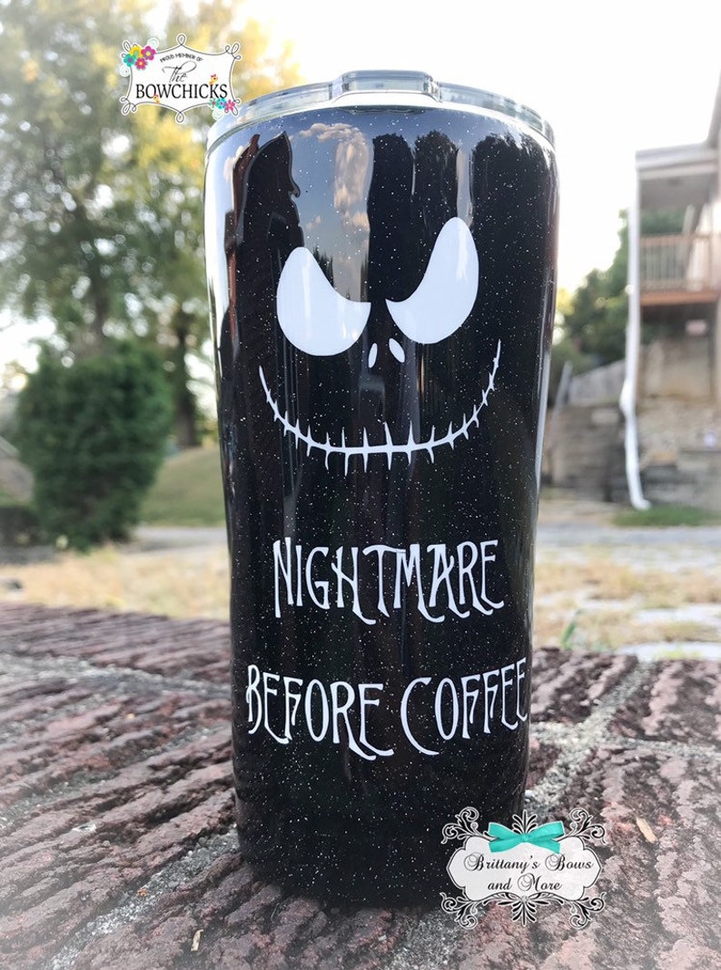 Nightmare Before Coffee  Stainless Steel Tumbler  image 0