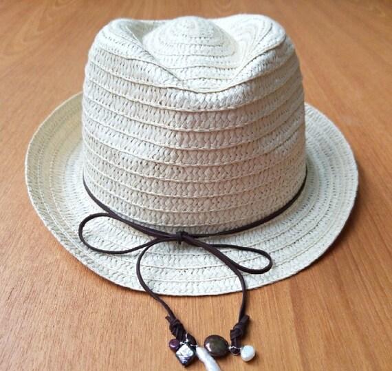 Beaded Woven Sun Hat
