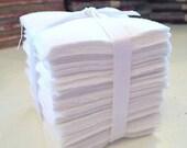 200 Pure White Moda Bella Solid precut mini charm pack 2.5 quot squares quilt fabric
