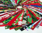 Christmas Fabric Charm Pack Lot - 100 Cotton Quilting Fabric 100 5 quot SQUARES