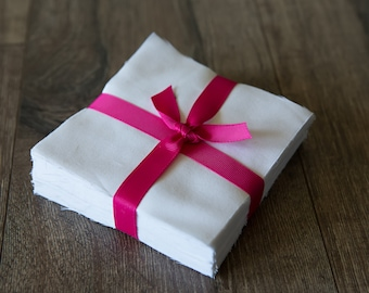 "100 Pure White pre cut charm pack 5"" squares 100% cotton fabric quilt"