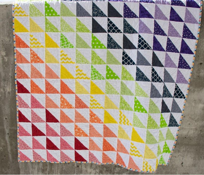 Rainbow Bright Pre Cut Quilt Kit Baby Sew Ready quilt Kit