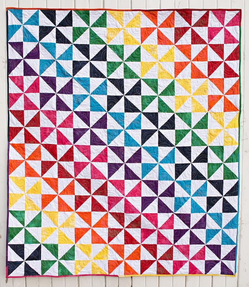 Pin Wheel Party Pre Cut quilt kit Sew Ready Quilt Kits moda fabric 52 X 64