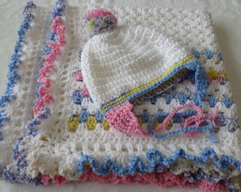 GRANNY Baby Afghan STROLLER Afghan Stroller Blanket Crochet CARSEAT Afghan Baby Afghan Baby Blanket Granny Baby Afgn Crochet Carriage Cover