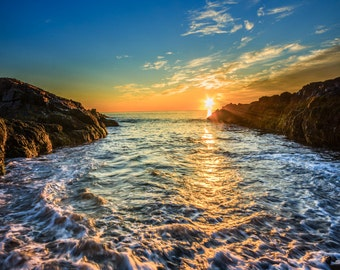 Sunrise at The Marginal Way, Ogunquit Beach, Maine, Fine Art Photo Print Multiple Sizes