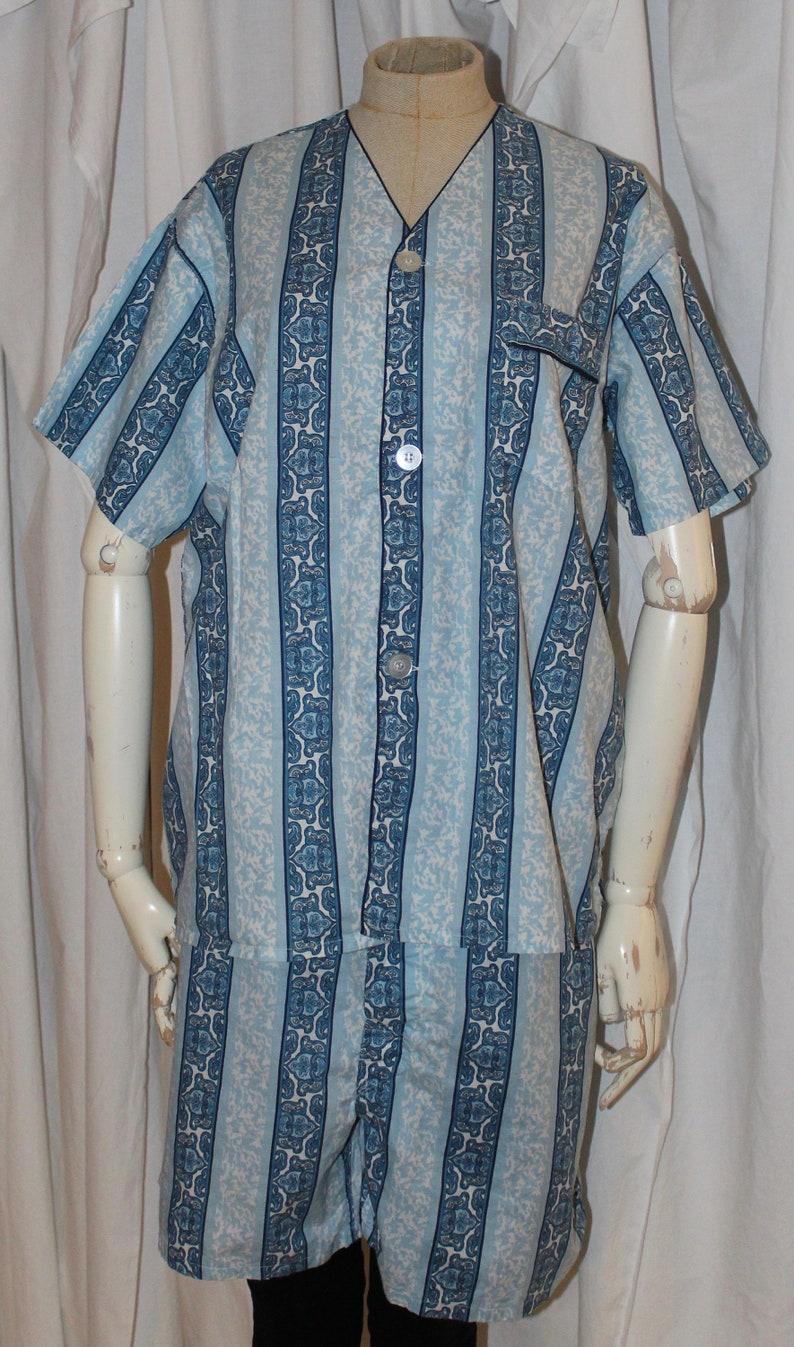 5c441d118 Vintage 60s men s short pjs Polynesian style print tiki