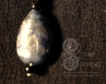 Moon Drops - Lapis & Silver