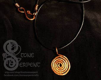 Uzumaki - Copper Pendant