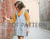 Ainsley Pinafore, girls sewing pattern, girl pinafore, pinafore pdf, pinny sewing pattern, girl pdf, girl dress, dress pattern, kids pattern